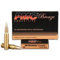 PMC Bronze .308 Winchester Ammunition 147 Grain FMJ 2780 fps 20 Rounds per Box